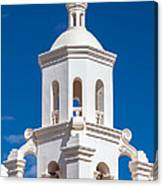 Tower At Mission San Xavier Del Bac Canvas Print