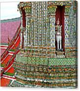 Tower At Temple Of The Dawn-wat Arun In Bangkok-thailand Canvas Print