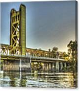 Tower  Bridge 2 Sacramento Canvas Print