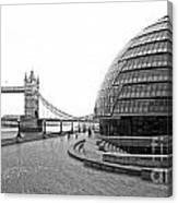 Tower Bridge And London City Hall - Uk Canvas Print