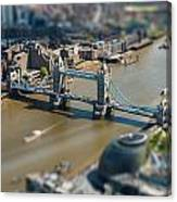 Tower Bridge And London City Hall Aerial View Canvas Print