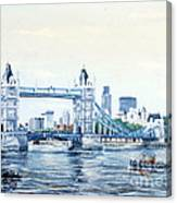 Tower Bridge And The City Of London Canvas Print