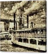 Tower Bridge And The Elizabethan Vintage Canvas Print