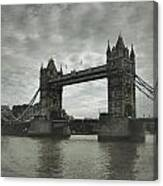 Tower Bridge In London Over The Thames Canvas Print