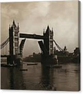 Tower Bridge London 1906 Canvas Print