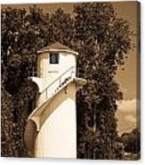 Tower In Sepia Canvas Print