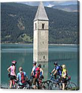 Tower In The Lake Canvas Print