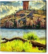 Tower On The Bluff Canvas Print