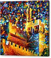 Tower - Palette Knife Oil Painting On Canvas By Leonid Afremov Canvas Print