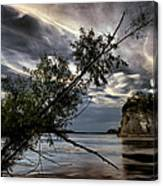 Tower Rock In The Mississippi River Canvas Print