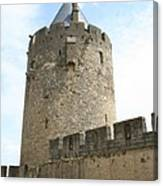 Tower Town Wall - Carcassonne Canvas Print