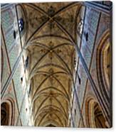Towering Art - The Painted Ceiling Above The Nave Of Uppsala Cathedral - Sweden Canvas Print