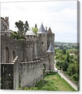 Towers And Townwall  - Carcassonne Canvas Print