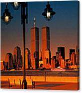 Towers Framed Canvas Print