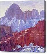 Towers Of The Virgin Valley Canvas Print