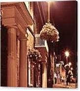 Town At Night Canvas Print