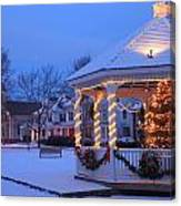 Town Common Holiday Scene Brookfield Massachusetts Canvas Print