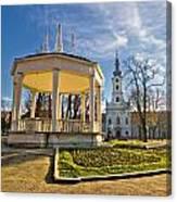 Town Of Bjelovar Central Park Canvas Print