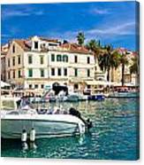 Town Of Hvar Waterfront View Canvas Print