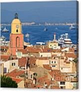 Town Of St Tropez Cote D'azur France Canvas Print