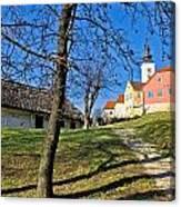 Town Of Varazdinske Toplice Center Park Canvas Print