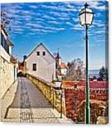 Town Of Varazdinske Toplice Walkway Canvas Print