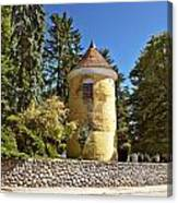 Town Of Vrbovec Historic Park Tower Canvas Print