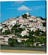 Town On A Hill, D51, Sault, Vaucluse Canvas Print