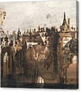 Town With A Broken Bridge Canvas Print