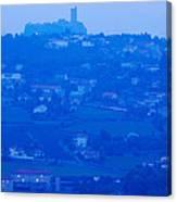 Town With Chateau De Polignac Canvas Print