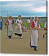 Townsfolk On Main Street In Louisbourg Living History Museum-174 Canvas Print