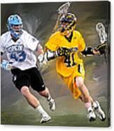 College Lacrosse 7 Canvas Print