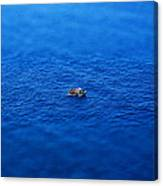 Toy Boat On Imaginary Water Canvas Print
