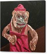 Toy Monkey With Cymbals Canvas Print