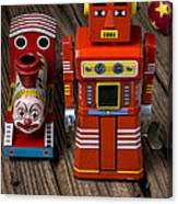 Toy Robot And Train Canvas Print