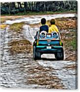 Toy Truck Riders Canvas Print