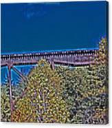 Tracks Above Canvas Print
