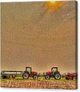 Tractors At Noon Canvas Print