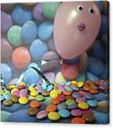 Tracy Felt Like A Real Airhead Surrounded By All These Smarties Canvas Print