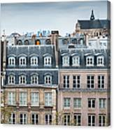 Traditional Buildings In Paris Canvas Print