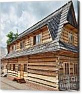 Traditional House In The High Tatra Mountains Poland Canvas Print