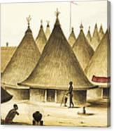 Traditional Native Village Circa 1840 Canvas Print