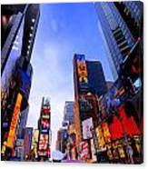 Traffic Cop In Times Square New York City Canvas Print