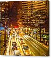 Traffic In A Big City Canvas Print