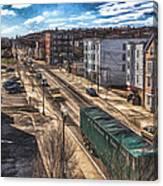 Traffic On Lincoln Street Canvas Print