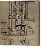 Traffic Signal Patent Canvas Print