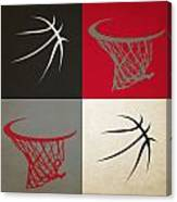 Trail Blazers Ball And Hoop Canvas Print