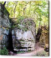Trail Through The Rocks Wildcat Den State Park Canvas Print