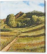 Trail To The Peak Canvas Print