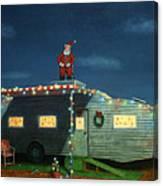 Trailer House Christmas Canvas Print